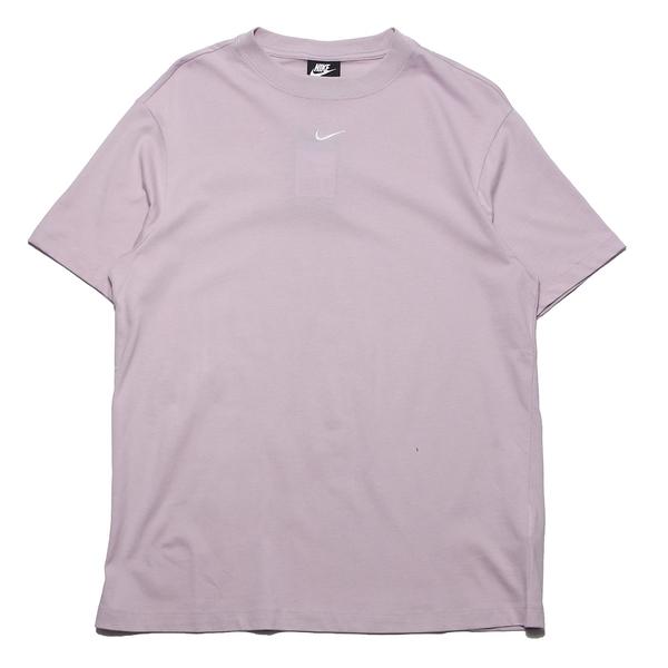 NIKE 短T NSW 粉紫 馬卡龍 刺繡小LOGO 寬鬆 短T 素T 女 (布魯克林) DH4256-576