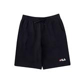 FILA 男款黑色針織短褲-NO.1SHV-1509-BK