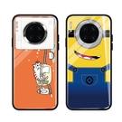 Galaxy S21手機套 三星S21卡通小黃人玻璃防摔保護殼 三星S21 Ultra個性手機殼 SamSung S21+保護套皮套