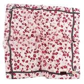 CLATHAS 花卉圖案純綿帕領巾(紅色)989265-14