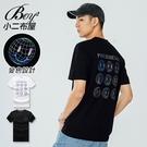 短T恤 韓版反光表情印花潮流短袖上衣【NW621038】