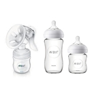 【PHILIPS AVENT】手動吸乳器(SCF330/20)+親乳感玻璃防脹氣奶瓶240mlx1+120mlx1
