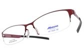 MIZUNO 美津濃 光學眼鏡 MF1302N C27B (紅) 輕薄簡約款 β鈦眼鏡 # 金橘眼鏡