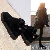 chic馬丁靴女英倫學生韓版百搭秋冬棉靴加絨短靴新款雪地靴女    MOON衣櫥