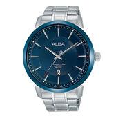 【僾瑪精品】ALBA 雅柏 廣告推薦經典簡約羅馬腕錶-銀x藍/VJ42-X237B(AS9E91X1)