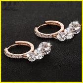 【YPRA】耳環 s925純銀水晶長款耳環韓國氣質簡約時尚耳扣甜美百搭珍珠吊墜耳釘
