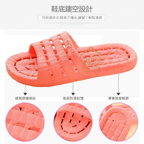 浴室排水快乾防滑拖鞋 鞋底鏤空透氣乾爽浴室、海灘、室內拖鞋  7色可選【TA145】《約翰家庭百貨