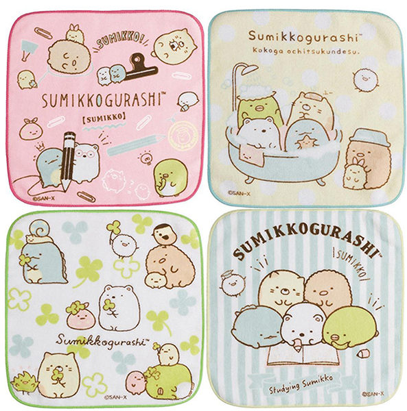角落生物 小方巾 棉質 Sumikko Gurash 日本正版 該該貝比日本精品 ☆