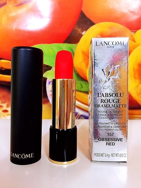 LANCOME 蘭蔻 蘭蔻絕對完美迷霧唇膏 3.4g 色號: 157 OBSESSIVE RED 百貨公司專櫃正貨盒裝 百貨公司標籤
