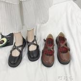 洛麗塔小皮鞋少女學生韓版百搭ulzzang原宿風ins淺口軟妹學院單鞋 盯目家