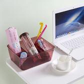 ✭慢思行✭【P445】半透明多功能收納盒(大號) 塑料 化妝品 簡約 桌面 家用 整理盒 護膚品