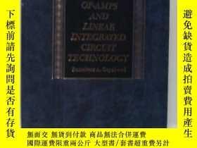二手書博民逛書店Op-amps罕見And ar Integrated Circuit Technology-運算放大器與線性集成電