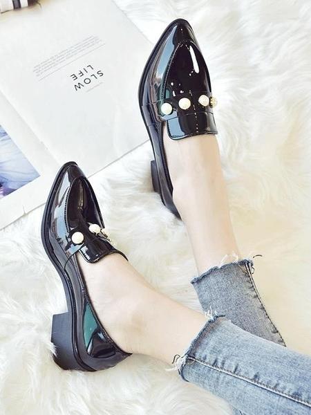 單鞋子女新款女鞋zipper學生韓版百搭ulzzang軟妹小皮鞋 青木鋪子