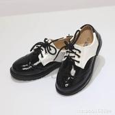 女童皮鞋 男童黑皮鞋春秋英倫風演出鞋中大童黑白款學生花童鞋真皮單鞋 瑪麗蘇