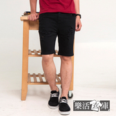 【K-051】美型原色百搭刷破抽鬚牛仔短褲(共二色)● 樂活衣庫