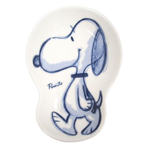 【震撼精品百貨】史奴比Peanuts Snoopy ~SNOOPY日本製造型陶磁小碟/醬料碟(手繪SNOOPY)