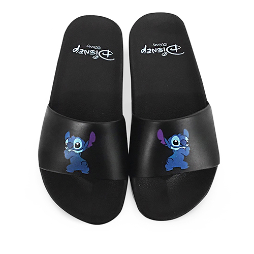 Disney 玩趣俏皮 史迪奇休閒拖鞋-黑