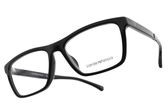 EMPORIO ARMANI 光學眼鏡 EA3138F 5017 (黑) 小臉大方框款 平光鏡框 #金橘眼鏡