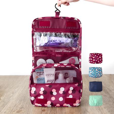 韓版 新款印花可掛式盥洗收納包 盥洗包 洗漱口包 化妝包 手提式 防水 旅行 出國