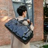 男旅行包 韓版男包 PU短途旅行袋便攜大容量商務出差行李袋包斜背手提包【五巷六號】wb2429