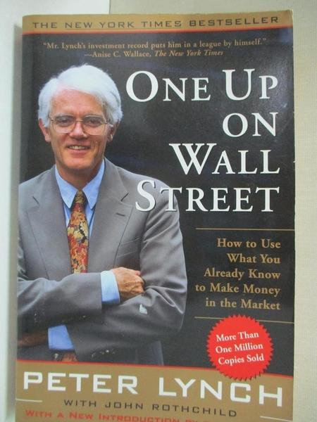 【書寶二手書T1/原文小說_CLW】One Up on Wall Street-How to Use What..._Lynch