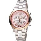 WICCA 璀璨時刻計時腕錶 BM1-237-91 玫瑰金色