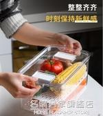 冰箱食品收納盒廚房家用分類可瀝水保鮮盒水果蔬菜儲物盒 名購居家