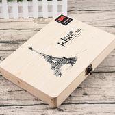 同學錄盒裝木盒大號創意唯美同學留言冊學生復古畢業紀念冊   薔薇時尚