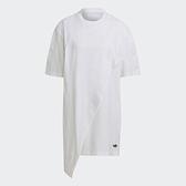【陸壹捌折後$2080】Adidas ORIGINALS BELLISTA 女裝 短袖 佯裝 休閒 不對稱下擺 寬鬆 白 GN3164