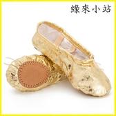 舞鞋 金色舞蹈鞋練功鞋軟底女童兒童芭蕾舞鞋銀色貓爪鞋肚皮舞鞋