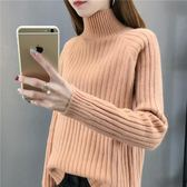 毛衣早秋裝女2018新款高領毛衣女短款套頭寬松針織衫女長袖打底衫「爆米花」