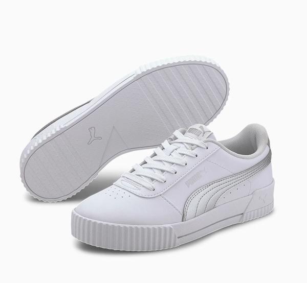 PUMA Carina Meta20 女款銀白色運動休閒鞋-NO.37322901