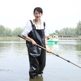 摸魚釣魚褲下水加厚防水連身捕魚全身水衣涉水耐磨橡膠半身釣魚服 台北日光