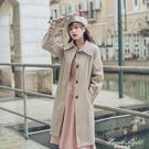 Waitmore風衣女中長款小個子2020秋冬新款外衣矮個子顯高流行外套 果果輕時尚