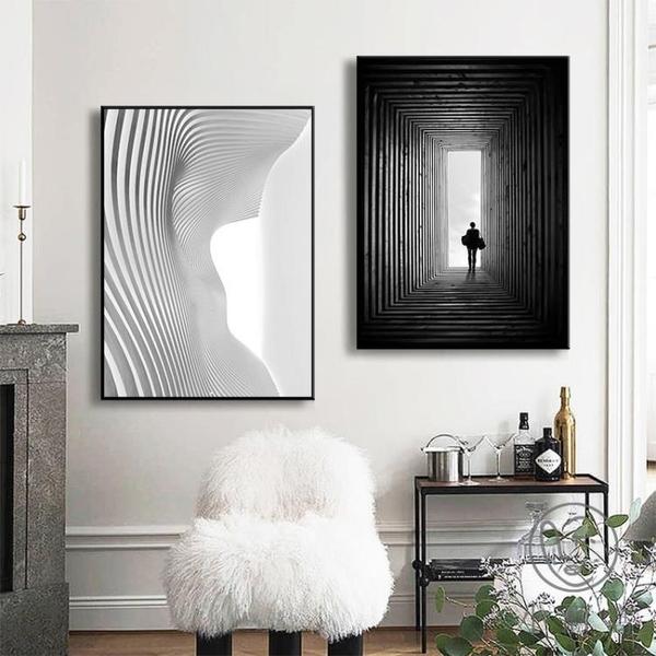 玄關裝飾畫抽象簡約餐廳壁畫創意個性現代輕奢客廳掛畫【小酒窩服飾】
