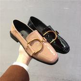 85折皮鞋女學生 韓版 百搭原宿英倫復古 粗跟單鞋女開學季