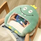 可愛冬天季暖手抱枕插手捂毛絨午睡被子兩用毯男女生可視看玩手機 台北日光