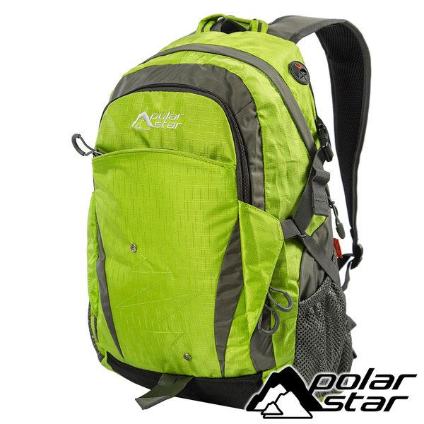 【PolarStar】透氣背包25L『綠』露營.戶外.旅遊.自助旅行.多隔間.登山背包.電腦背包 P15813-401