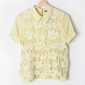 【MASTINA】韓系蕾絲雪紡上衣-黃 (共兩色)      春夏特賣★