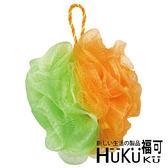 【HUKUKU福可】亮彩果凍沐浴球(橘+綠)|澡球 浴花 浴球 海綿球 背搓