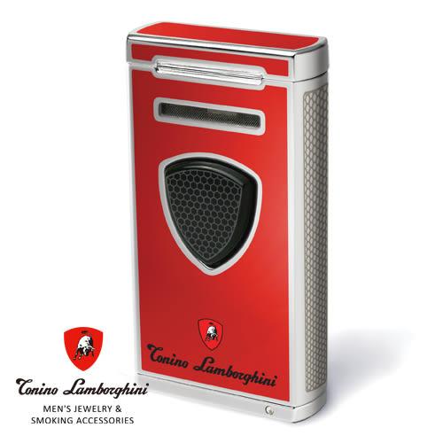 義大利 藍寶堅尼精品 - 附雪茄圓剪PERGUSA LIGHTER 打火機(紅色) ★ Tonino Lamborghini 原廠進口 ★