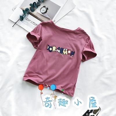 男童純棉短袖t恤夏季女寶寶半袖體恤上衣【奇趣小屋】