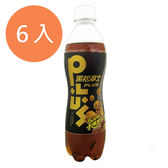 黑松沙士PlUS卡滋爆米花焦糖風味460ml(6入)/組【康鄰超市】
