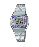 附台灣卡西歐保卡才是公司貨【時間光廊】CASIO 卡西歐 LA680WA-2C 玫瑰花圖樣 復古型電子錶