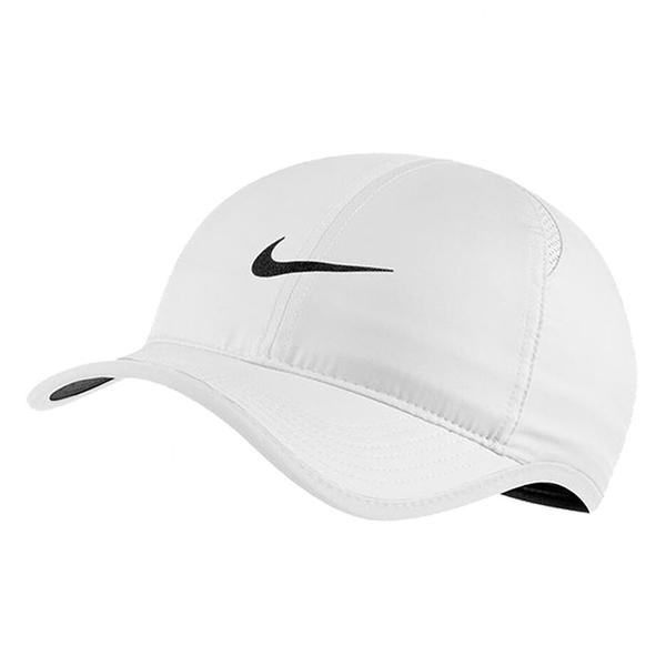NIKE FEATHER LIGHT CAP 帽子 老帽 休閒 小勾 可調整 白【運動世界】679421-104