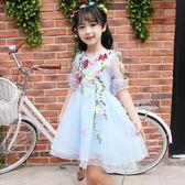 女童公主裙蓬蓬紗夏裝2018新款兒童裝洋氣連衣裙小女孩韓版裙子潮