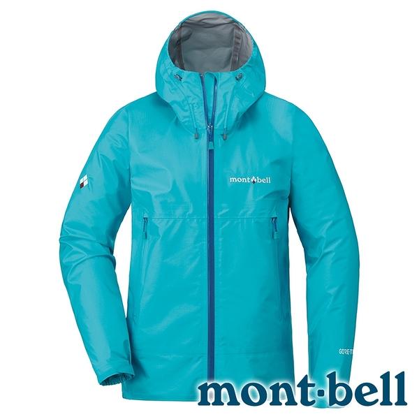 【mont-bell】STORM CRUISER 女 G-T單件式輕量外套『淺松藍』1128617 禦寒 防潑水 GORE-TEX