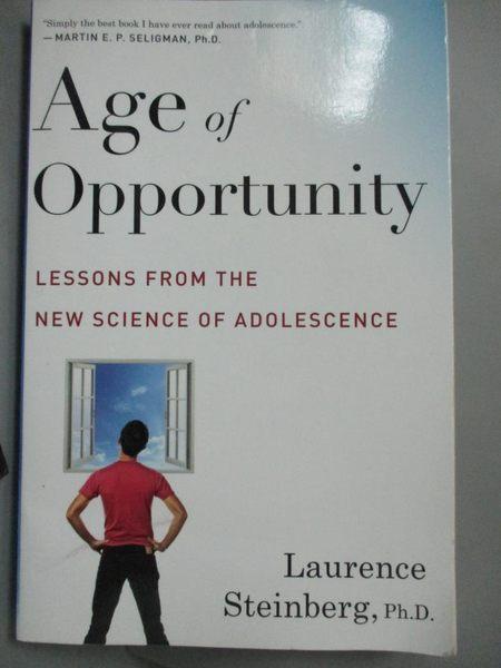 【書寶二手書T1/心理_LHY】Age of Opportunity: Lessons from the New…