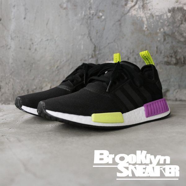 Adidas NMD R1 黑 黃紫 襪套 網布 七龍珠配色 慢跑 男 (布魯克林)  D96627