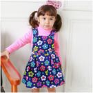 細刷毛吊帶裙 花朵印花 女童 保暖 洋裝 連身裙 洋裝 洋裙 連衣裙 Augelute 50687